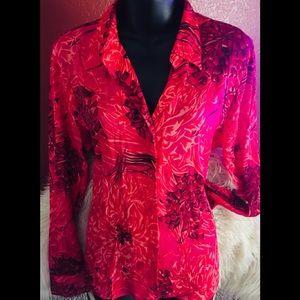 III State silk blouse